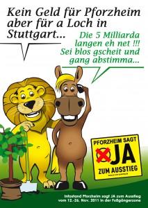 Kein Geld für Pforzheim aber für a Loch in Stuttgart...