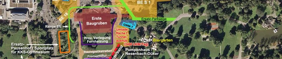 Baustelle Bahnhof Schlossgarten