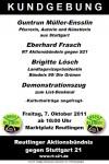 Kundgebung Reutlingen
