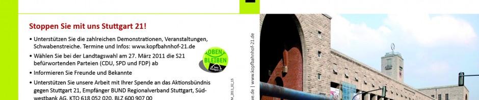 Flyer: Grundwassermanagement im Rahmen von Stuttgart 21