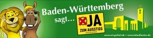 JA zum Ausstieg - kein Stuttgart 21