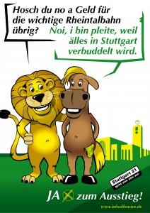 JA zum Ausstieg - Hosch Du noch Geld für die wichtige Rheintalbahn übrig?