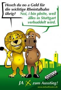IO: JA zum Ausstieg - Hosch Du noch Geld für die wichtige Rheintalbahn übrig?