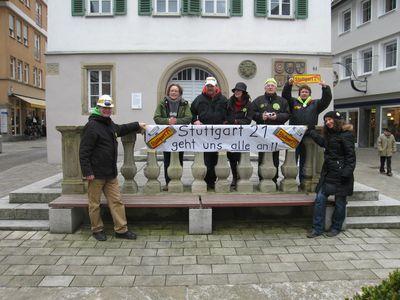 Infostand in Kuenzelsau