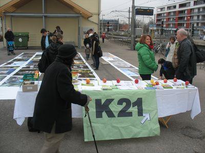 zeigt Foto vom Infostand in Möhringen