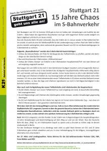 Flyer: S21 - 15 Jahre Chaos im S-Bahnverkehr