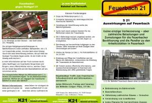 S21  Auswirkungen auf Feuerbach