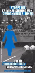 Stoppt die Kriminalisierung von DemoanmelderInnen!